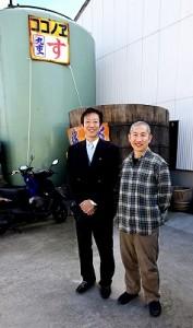 【日本酒・食酢】幸先良好!仕事始めに出品酒の袋づり。写真家 内山りゅうさんが来蔵!の画像