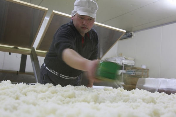 よりよい食酢を造るために始まった清酒の造り。弊社の日本酒は全国の地酒専門店様にご贔屓いただいております。