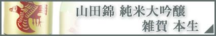 山田錦 純米大吟醸 雑賀 本生