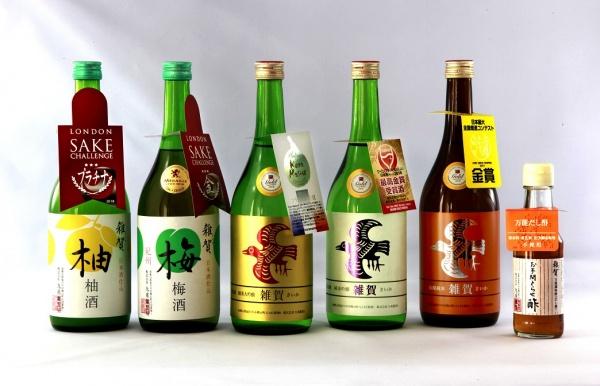 2018年に受賞した弊社日本酒、リキュール、食酢商品